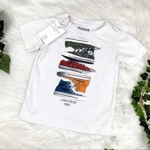 d72c293c Converse Shirts & Tops - Kids Converse 3T Short Sleeve Graphic Tee White